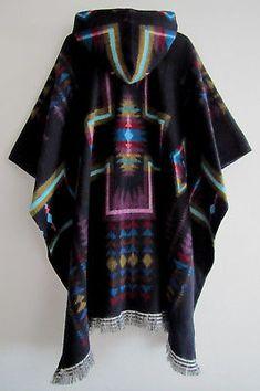 Llama Poncho with Hood Wool Black Unisex Cape Indigenous Native Navajo Ecuador Diy Clothing, Custom Clothes, Love Fashion, Plus Size Fashion, Mens Cape, Clothes For Big Men, Mens Wool Coats, Ribbon Skirts, Ladies Poncho