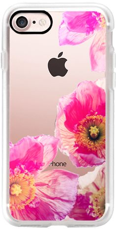 Casetify iPhone 7 Classic Grip Case - ALWAYS POPPIES PINK iPhone 5 by Monika Strigel Transparent by Monika Strigel #Casetify