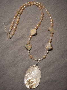 Genuine Freshwater pearls w/Blister pearl by CreationsbyMaryEllen, $19.75
