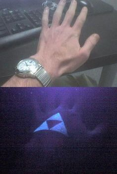UV Triforce tattoo. Excuse me while I have a small geek attack.