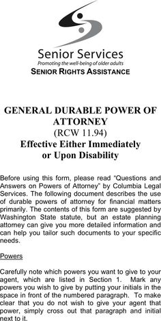 how to become power of attorney for a parent