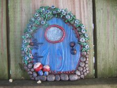 Blueberry Charms Fairy Door Pixie Portal - pinned by pin4etsy.com