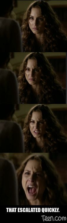 Pretty Little Liars' Spencer Hastings (Troian Bellisario) and her... um... interesting fight with Mona.