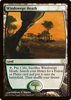 Windswept Heath, zeerbe, proxy, digital render, MTG, Z's Proxy Factory, fetch land, Magic the Gathering