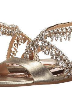 Badgley Mischka Tristen II (Platino Metallic Suede) Women's Sandals - Badgley Mischka, Tristen II, MP3675B-929, Footwear Open Casual Sandal, Casual Sandal, Open Footwear, Footwear, Shoes, Gift, - Fashion Ideas To Inspire