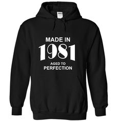 Made in 1981 T-Shirts, Hoodies. ADD TO CART ==► https://www.sunfrog.com/Birth-Years/Made-in-1981-3747-Black-44882591-Hoodie.html?id=41382