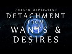 Guided Meditation for Detachment from Wants & Desires (Anxiety / Depress. Meditation For Anxiety, Power Of Meditation, Meditation Videos, Meditation Benefits, Daily Meditation, Meditation Practices, Prayer For Depression, Ocd And Depression