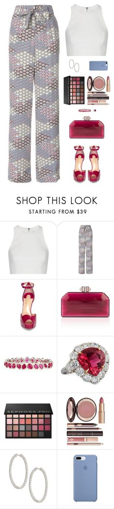"""""""Sin título #4874"""" by mdmsb on Polyvore featuring moda, Elizabeth and James, Equipment, Christian Louboutin, Judith Leiber, Diana M. Jewels, Sephora Collection y Charlotte Tilbury"""