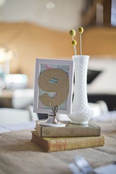 BOOK centerpiece + Billy Balls - Wisconsin Wedding from Dani Stephenson Photography