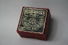 Vintage Hidersine De Luxe World Famous The Perfect Violin Rosin UK Made + cloth