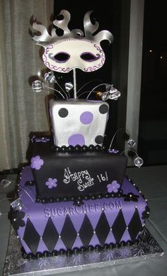 masquerade sweet 16 | Mask Birthday Cake http://www.sugarchef.com/gallery_occasion.asp?page ...