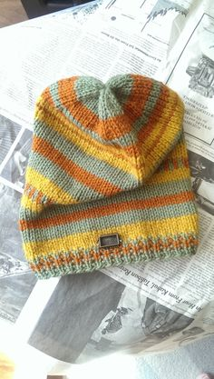 Slochy Beanie Bohemian Knit Beanie Boho Chic by LilRedKnittingHood