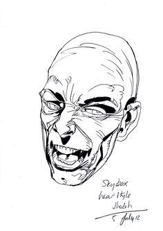 Rough pencils sketch
