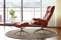 Ekornes Stressless Metro High Back Leather Recliner And Ottoman   Metro  Chair Lounger   Ekornes Stressless Metro Recliners, Stressless Chairs, ...