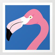 Flamingo Art Print by Amy Newhouse - $16.00