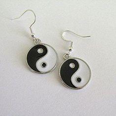 87b63fbd8 Yin yang earrings drop earrings grunge earrings emo earrings black and  white jewelry boho earrings hippie earrings new age earrings gift.