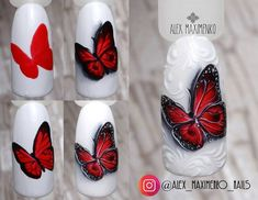 Spring Nail Designs - My Cool Nail Designs Butterfly Nail Designs, Butterfly Nail Art, Nail Designs Spring, Acrylic Nail Art, 3d Nail Art, 3d Nails, Art 3d, Beautiful Nail Designs, Cool Nail Designs