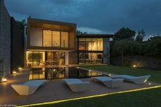 Magnifique résidence secondaire contemporaine mexicaine en 2 volumes,  #construiretendance