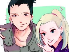 art by unknown artist // Shikamaru and Ino. I don't mind Temari with him but ShikaIno is one of my guilty pleasures. Hinata, Naruhina, Naruto Anime, Naruto Sasuke Sakura, Naruto Art, Otaku Anime, Team 10 Naruto, Naruto Teams, Inojin