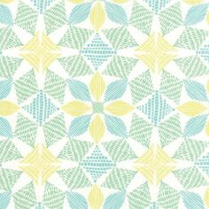 Canyon by Kate Spain for Moda - Geometric - Basket - Multi - Sand - Yard Cotton Quilt Fabric 918 Star Quilt Patterns, Fabric Patterns, Print Patterns, Floral Patterns, Geometric Flower, Textiles, Print Wallpaper, Sewing Notions, Cotton Quilts