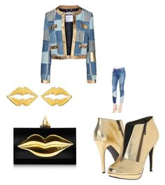 """Untitled #4"" by sheebababy on Polyvore featuring Michael Antonio, Charlotte Olympia, stella valle, Moschino and Current/Elliott"