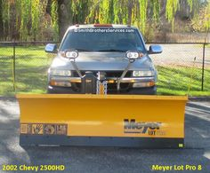 2002 Chevy 2500HD Meyer Lot Pro 8 Chevy 2500hd, Snow Plow, Over The Years, Trucks, Truck
