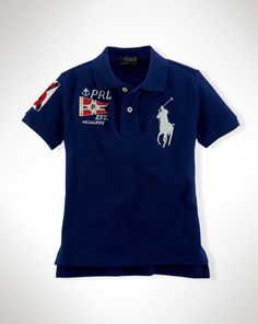 Big Pony Cotton Polo - Boys 2-7 Polo Shirts - RalphLauren.com