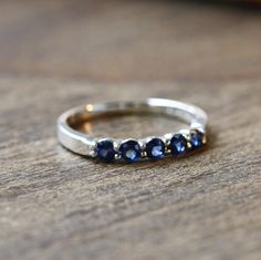 Size 6.5 Natural Blue Sapphire Engagement Ring by MidPointDesign