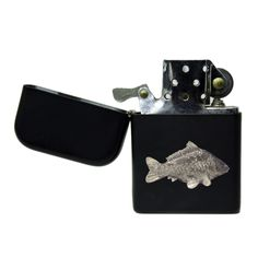 Matte black carp stormproof petrol lighter