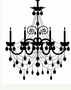 Freebies Week: Chandelier Silhouettes!