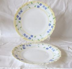 Two Vintage Arcopal Feston Pensea Pattern 7.5 19cm by DutchTrader £10.00 & Two Creamy White Arcopal Dinner Plates Made in France | Pinterest ...