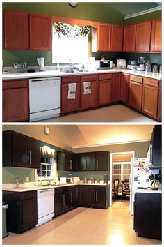 These kitchen cabinets may look brand-new, but wait 'til you see what transformed them! Learn how to make your kitchen look as good as new with this simple refinishing project.