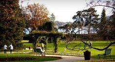 Jardin-botanique-Geneve-Suisse-en-camping-car Location Camping Car, Golf Courses, Dolores Park, Travel, Gardens, Camping Ideas, Viajes, Trips, Tourism
