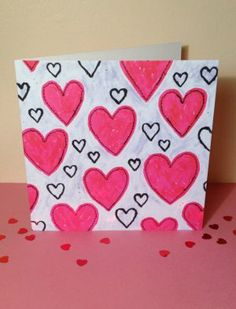 'Love Hearts' Valentine's Card by Dilys Treacle Treasures