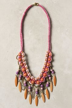Apricot Nectar Necklace #anthropologie