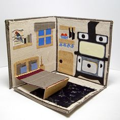 Mobile Mini Log Cabin no 2 Traveling Dollhouse by betinaworks, $50.00