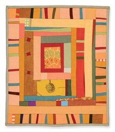 Gwen Marston Small Study. would be great with plain Jse lining fabrics and a couple of spectacular prints (e.g. Meisen)