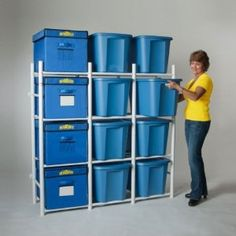 Amazon.com: Bin Warehouse DFAE2MBW-12TC Compact Storage For my attic.  I think the hubs can make this for cheaper...