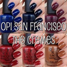 OPI San Francisco - The Cremes ~~ must get these!  <3