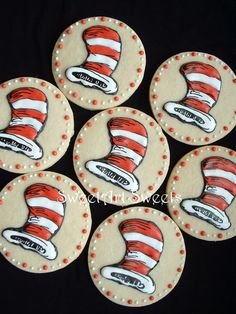We'll definitely have to serve Cat in the Hat-themed cookies in our stores for Dr. Seuss' birthday next year...