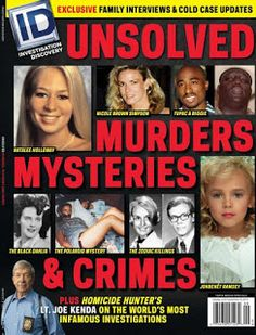 Magazine: Investigation Discovery Unsolved Murders, Mysteries & Crimes August/September 2015 Magazine, Consultant: Joe Kenda