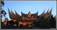 the house minagkabua in sumatera barat