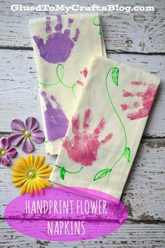 Handprint Flower Napkins