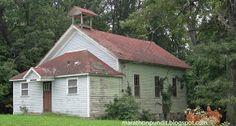 Old one room school house near Three Rivers, Michigan.