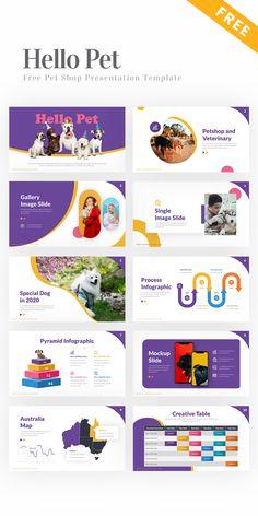 Hello Pet – Pet Shop Presentation Template #PowerPoint #PPT #template #free