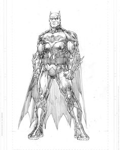 Batman pencils-had to photoshop him up a bit to change the proportions after he was inked and colored. #DCRebirth by jimleeart