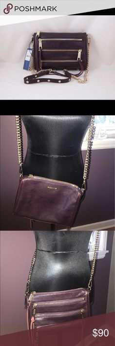 Rebecca Minkoff Zippy Crossbody First picture is not mine. BARELY WORN. IN AMAZING CONDITION. gold hardware - purple/burgundy color Rebecca Minkoff Bags Crossbody Bags