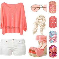 Casual but sexy summer outfit, perfect when there's a bit of a breeze outside Cute Summer Outfits, Short Outfits, Outfits For Teens, Spring Outfits, Cool Outfits, Casual Outfits, Spring Clothes, Cute Fashion, Look Fashion