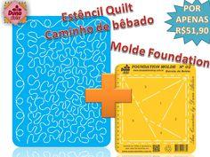 Essa é sua chance de aprender Quilt Livre e ter um guia completo para a técnica de Foundation. Promoção do kit no site da Duna: http://www.dunaateliershop.com.br/site/categoria1.php?categoria=16&categoria1=54