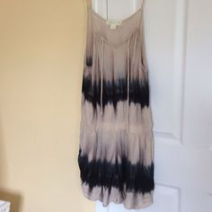 Staring at Stars tie dyed romper Super cute tie dyed romper. Spaghetti straps attached to tie at neck. Dropped waist. Tan and navy blue. Looks great!  Perfect for these hot days!! Urban Outfitters Other